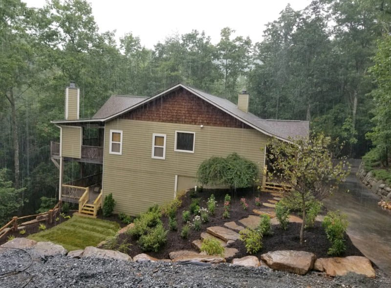 deck, fence, retaining wall, landscape design